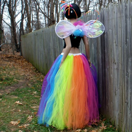 Neon Fairy Formal Wedding Tulle Skirt larger image & Formal Trashy Rainbow Neon Striped Tulle Skirt MTCoffinz - $150.00
